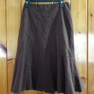 Liz Claiborne NWOT brown eyelet skirt